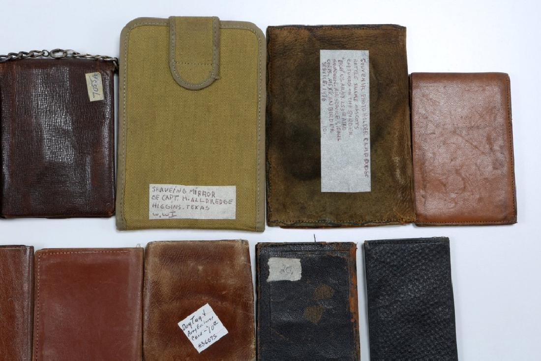 WWII US ARMED FORCES WALLET AND ID CARD MIXED LOT - 10