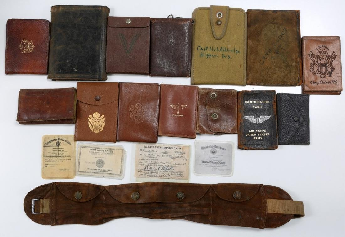 WWII US ARMED FORCES WALLET AND ID CARD MIXED LOT