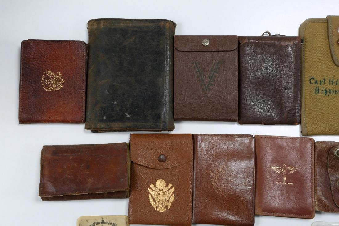 WWII US ARMED FORCES WALLET AND ID CARD MIXED LOT - 2