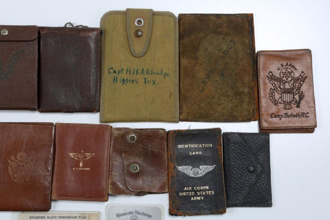 WWII US ARMED FORCES WALLET AND ID CARD MIXED LOT - 3
