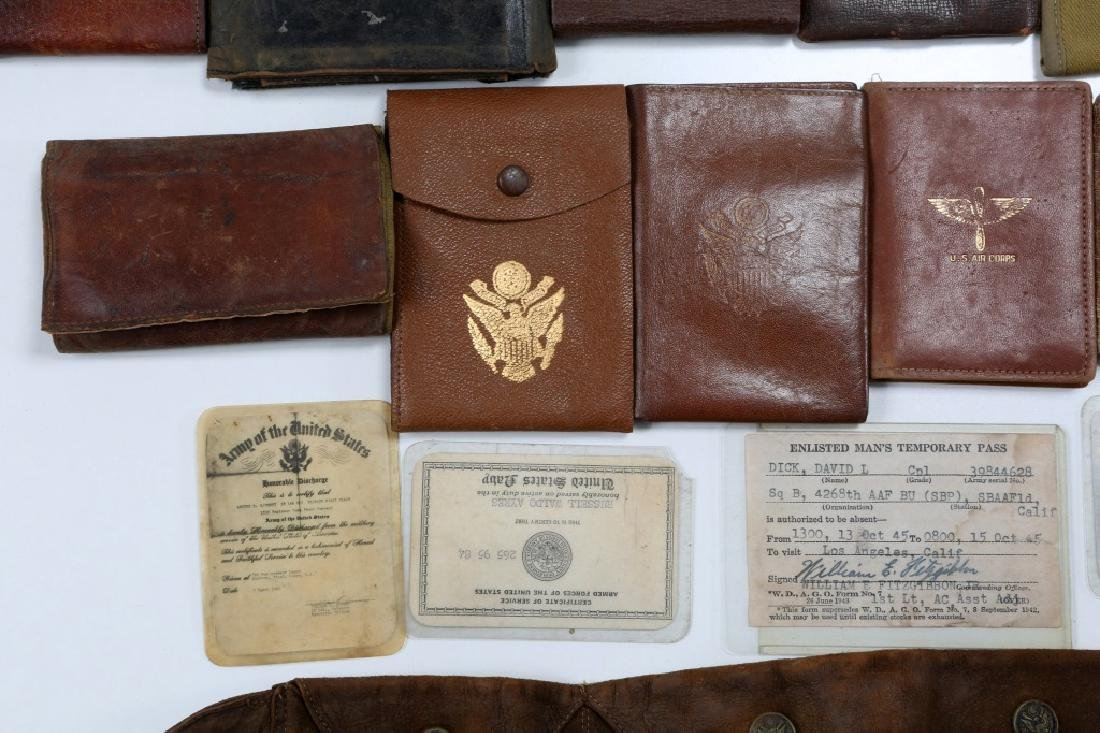 WWII US ARMED FORCES WALLET AND ID CARD MIXED LOT - 4