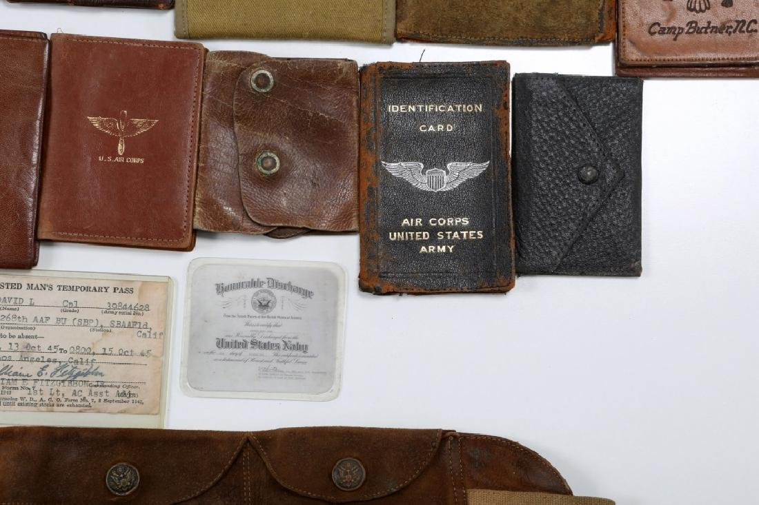 WWII US ARMED FORCES WALLET AND ID CARD MIXED LOT - 5