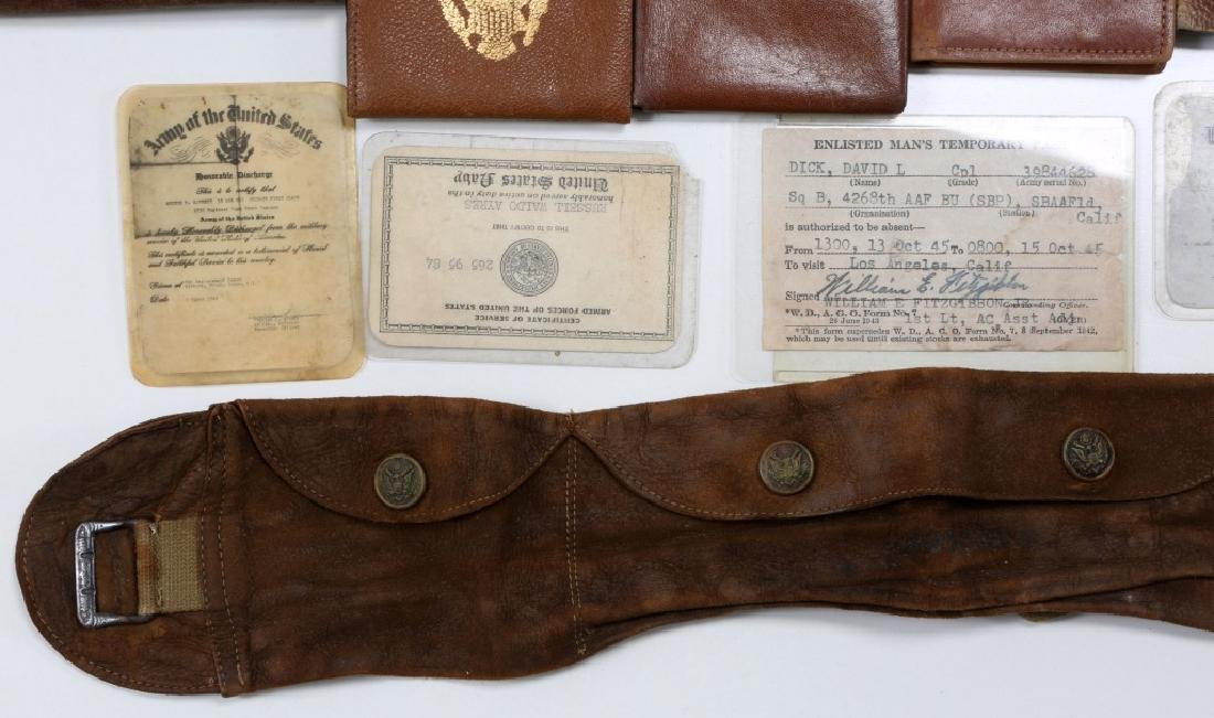 WWII US ARMED FORCES WALLET AND ID CARD MIXED LOT - 6