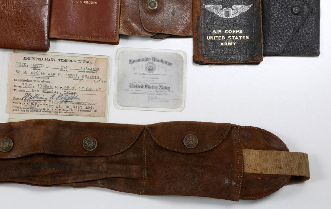 WWII US ARMED FORCES WALLET AND ID CARD MIXED LOT - 7