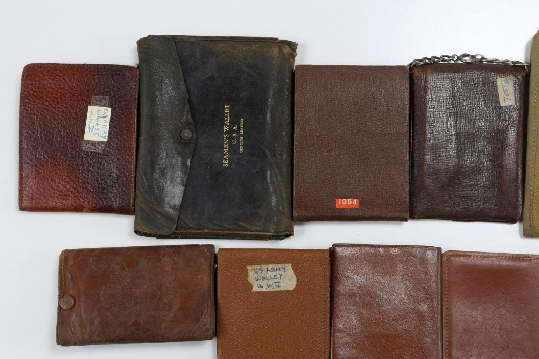 WWII US ARMED FORCES WALLET AND ID CARD MIXED LOT - 9