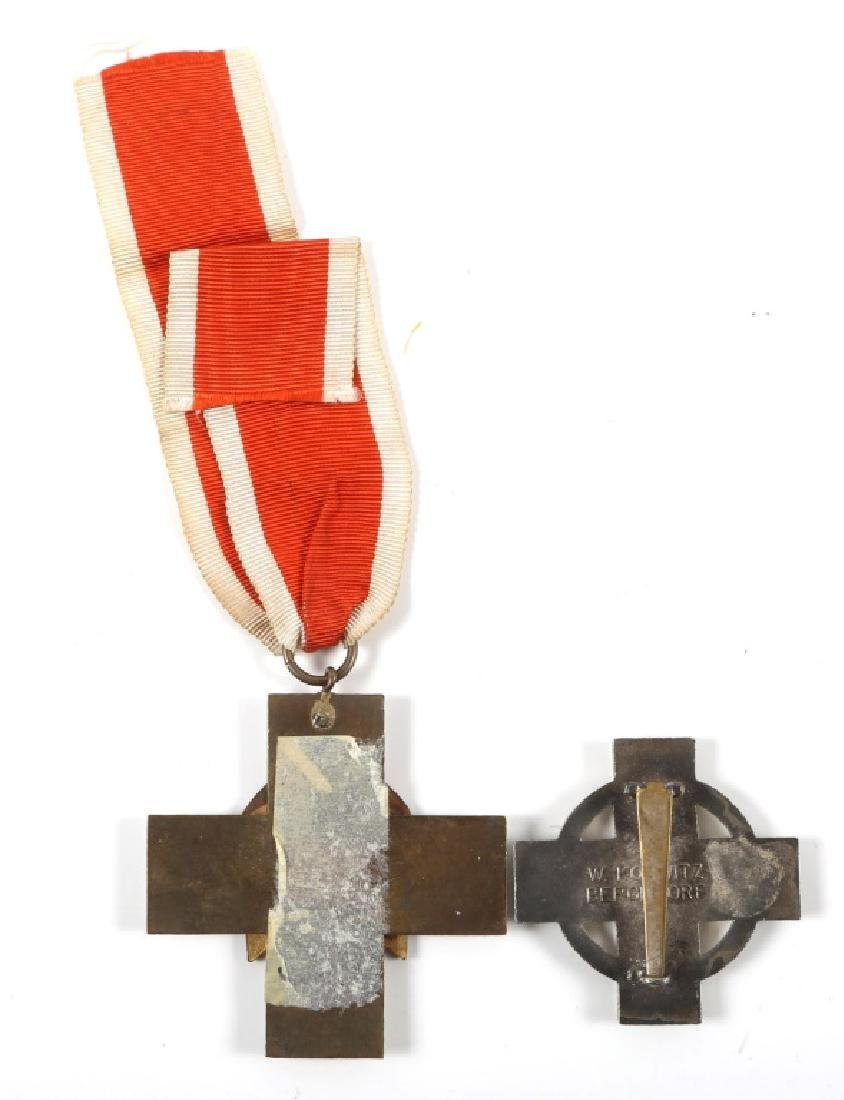 WWII GERMAN RED CROSS MEDAL AND BADGE LOT OF 2 - 3