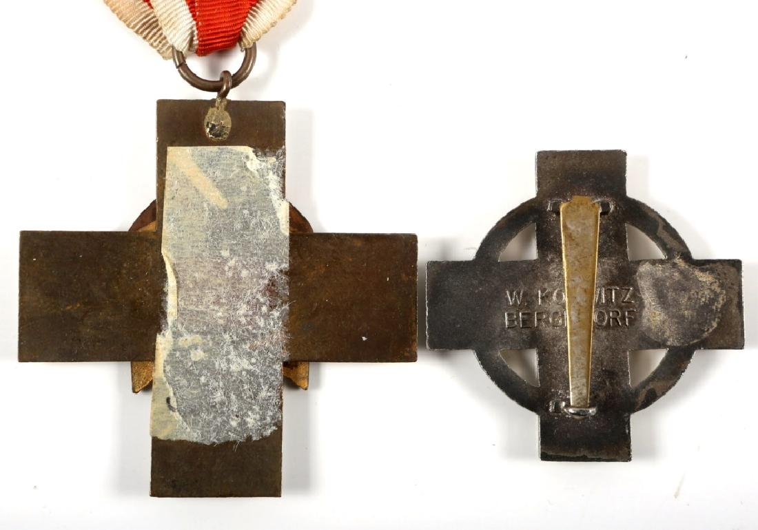 WWII GERMAN RED CROSS MEDAL AND BADGE LOT OF 2 - 4