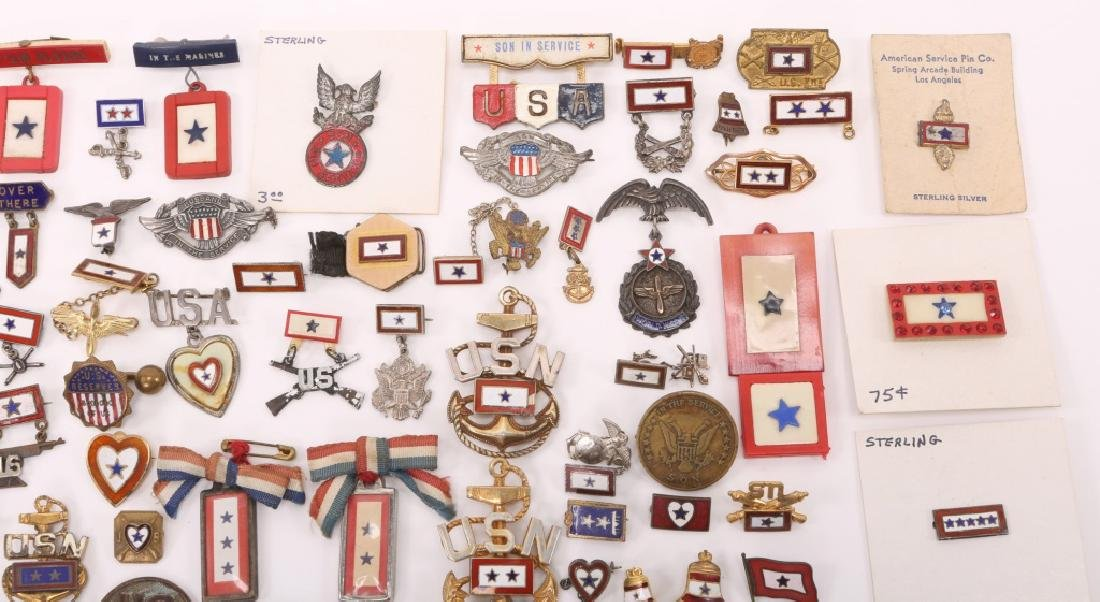 WWII LARGE LOT OF US SON IN SERVICE PINS - 2