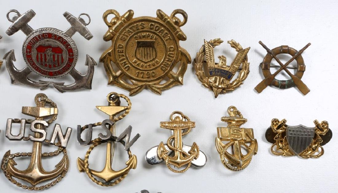 WWII US NAVY & COAST GUARD INSIGNIA MIXED LOT - 3