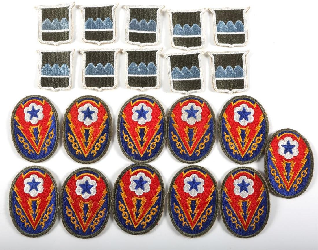 WWII US ARMY PATCH LOT OF 21