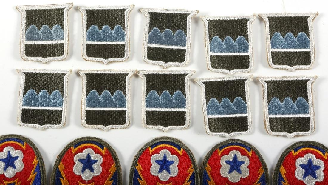 WWII US ARMY PATCH LOT OF 21 - 2