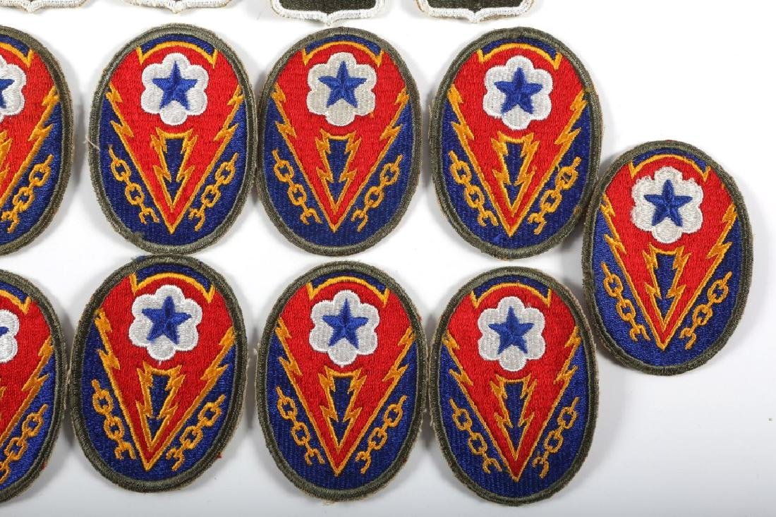 WWII US ARMY PATCH LOT OF 21 - 4