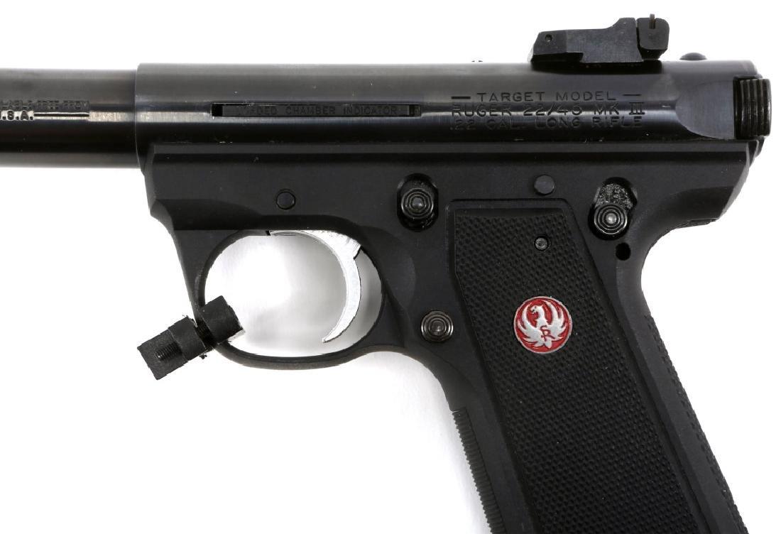 RUGER TARGET MODEL 22/45 MK III PISTOL .22 LR - 4