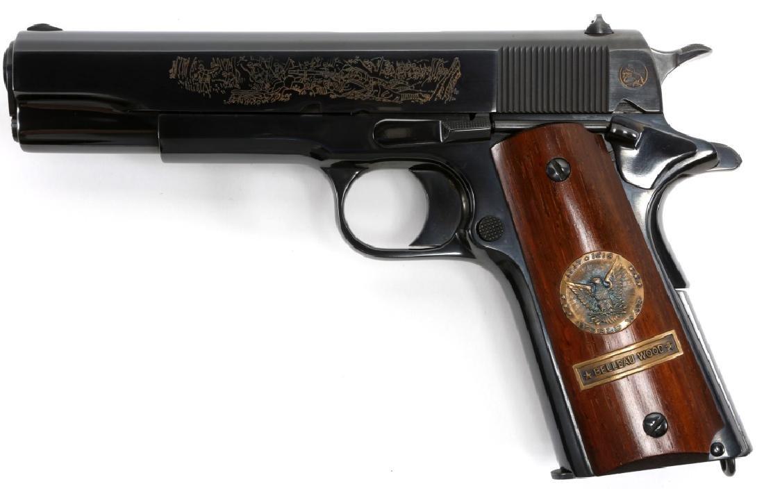 COLT 1911 BELLEAU WOOD WWI COMMEMORATIVE PISTOL - 4