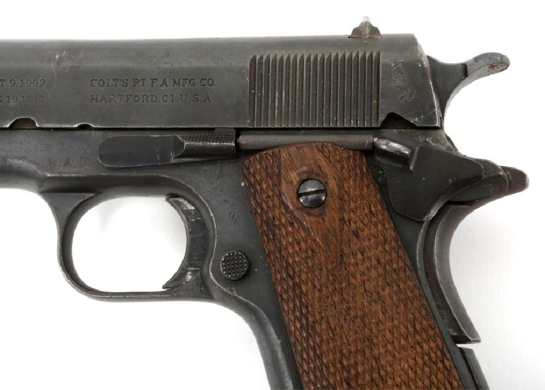 WWI BRITISH RAF CONTRACT COLT 1911 PISTOL .45 CAL - 5