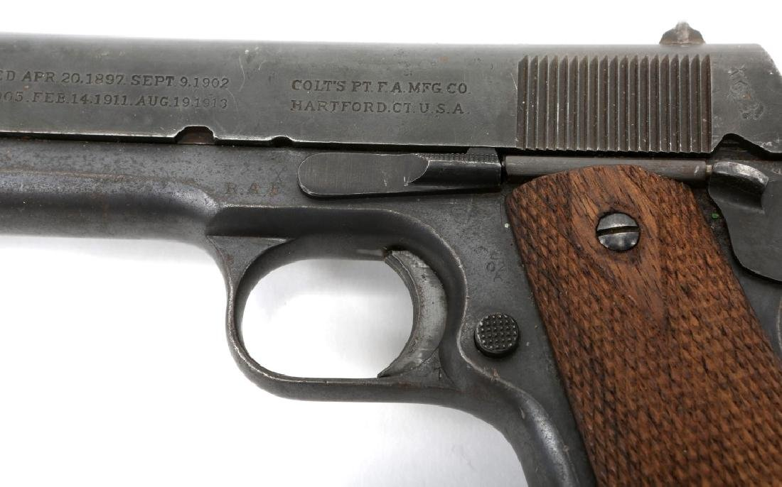 WWI BRITISH RAF CONTRACT COLT 1911 PISTOL .45 CAL - 7