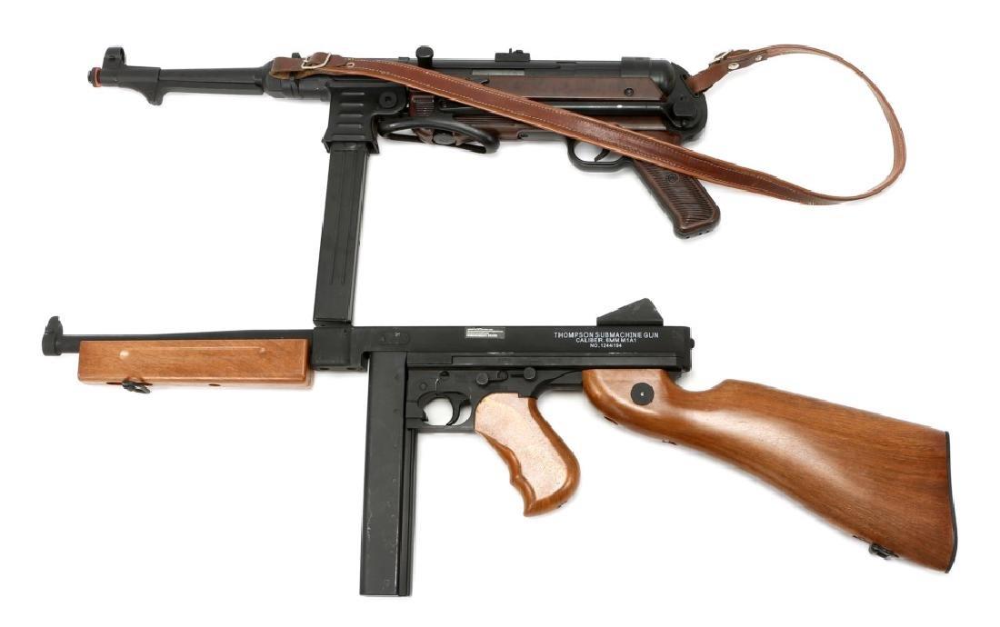 AIRSOFT SUBMACHINE GUN LOT OF 2 - 4