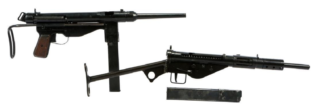 DISPLAY WWII FBP M48 & STEN MKII SMG