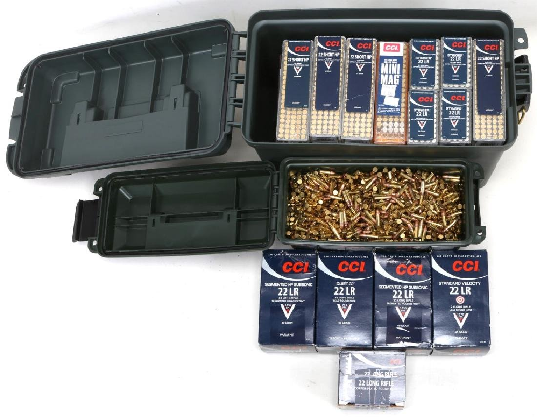 OVER 9000 ROUNDS .22 CAL AMMUNITION