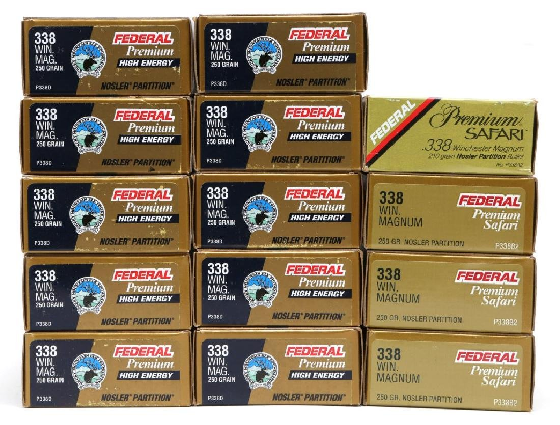 FEDERAL .338 WIN MAG AMMUNITION 280 ROUNDS