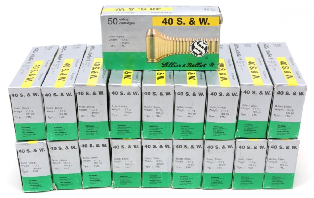 SELLIER & BELLOT .40 S&W 180GR FMJ 950 ROUNDS
