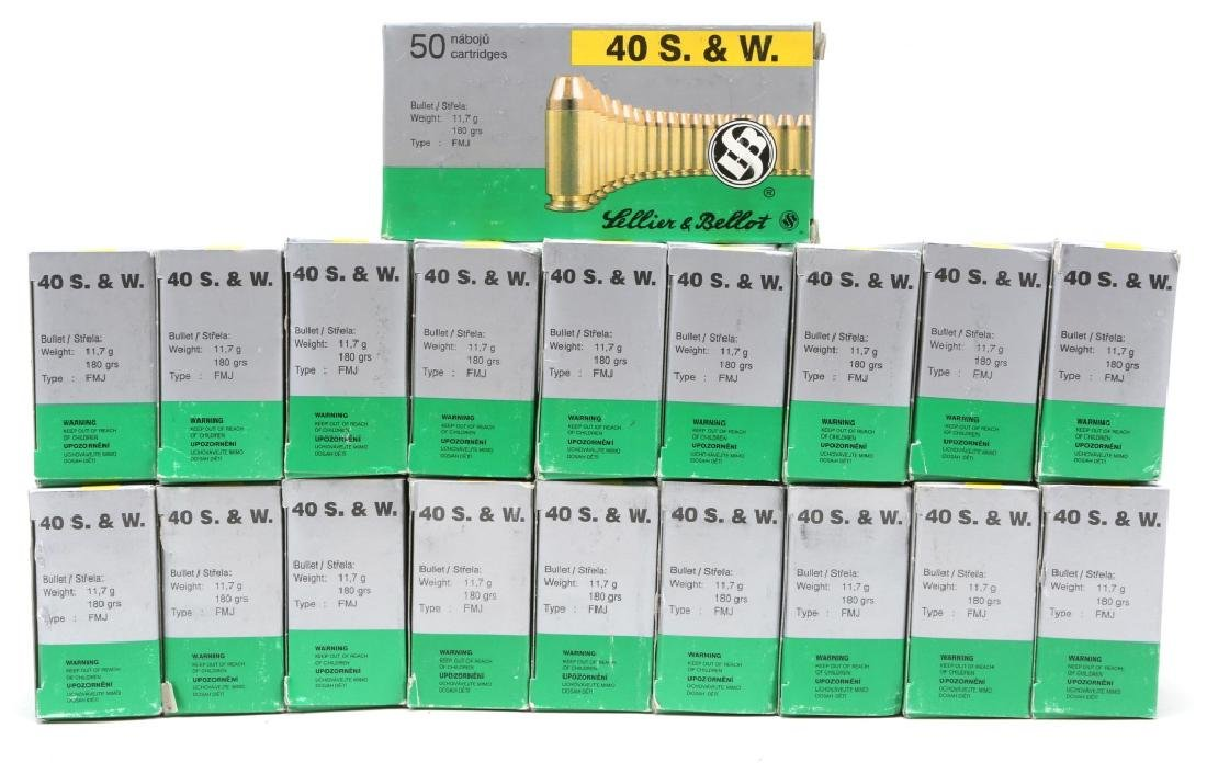 SELLIER & BELLOT .40 S&W 180GR FMJ 950 ROUNDS - 2