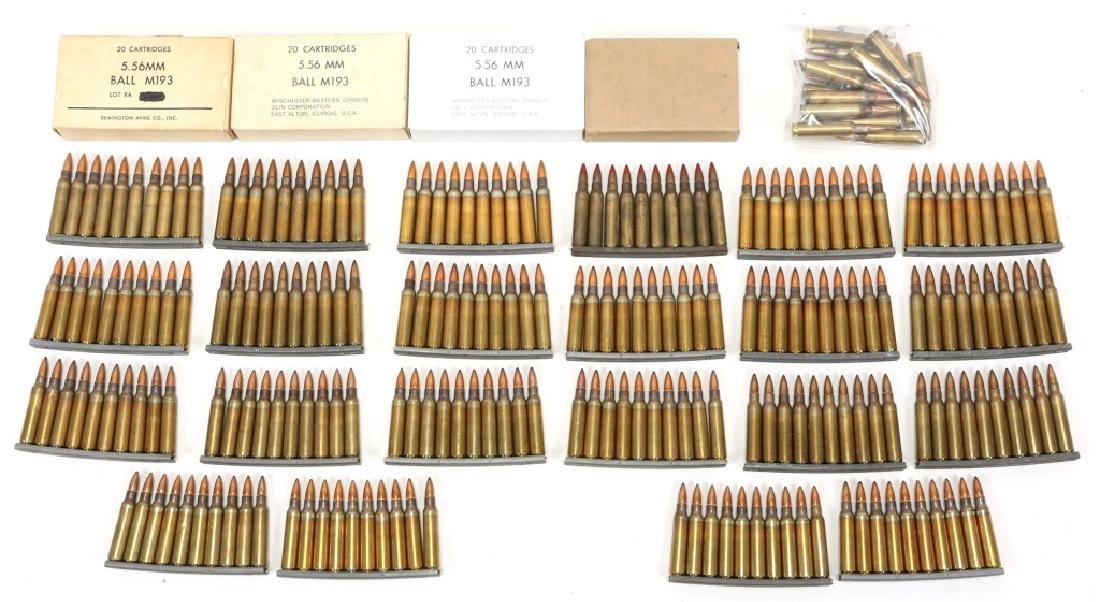 US VIETNAM ERA 5.56x45mm BALL M193 FMJ 316 ROUNDS - 2
