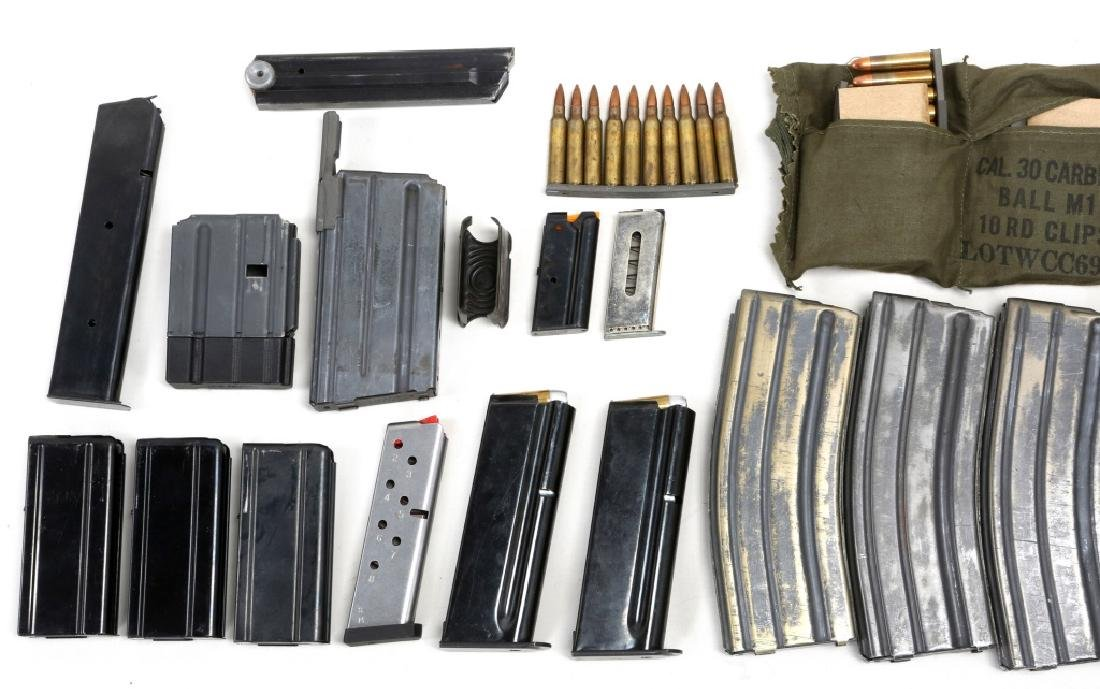 MIXED MAGAZINE &  AMMUNITION LOT IN AMMO CAN - 3