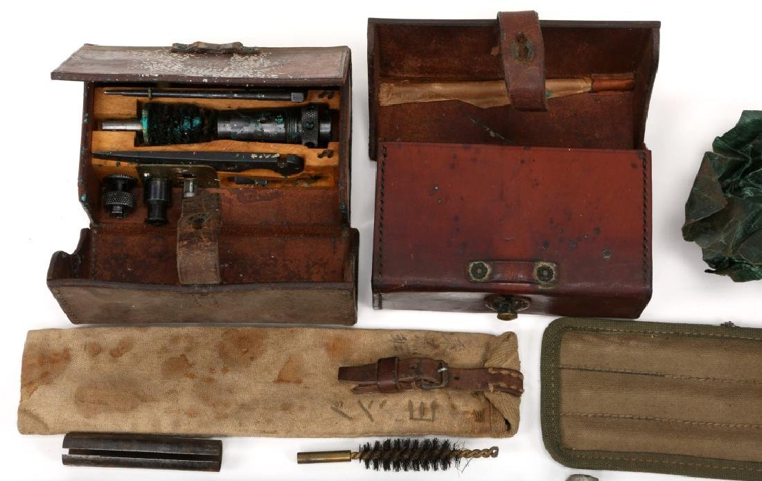 WWII MACHINE GUN & GUN CLEANING KIT LOT - 2