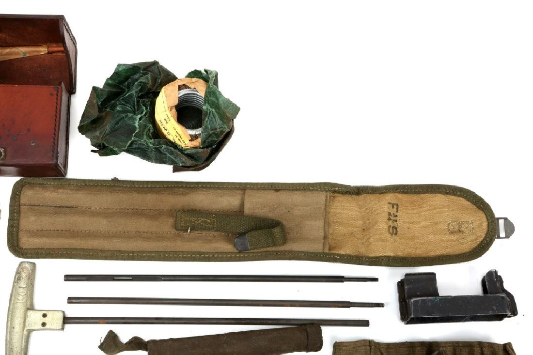 WWII MACHINE GUN & GUN CLEANING KIT LOT - 3
