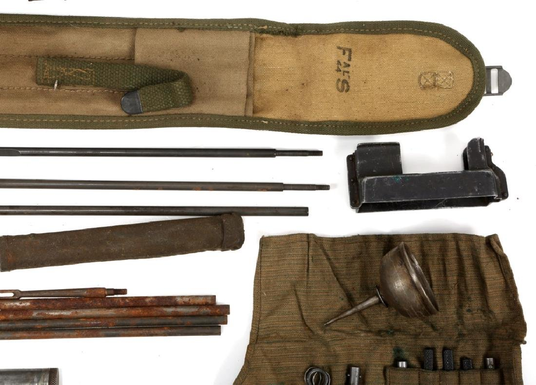 WWII MACHINE GUN & GUN CLEANING KIT LOT - 6