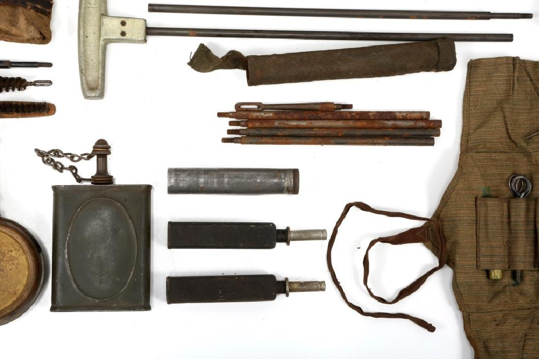 WWII MACHINE GUN & GUN CLEANING KIT LOT - 8