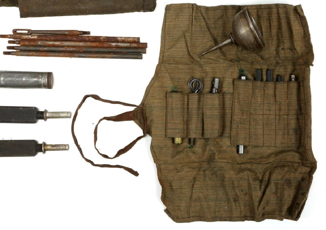WWII MACHINE GUN & GUN CLEANING KIT LOT - 9