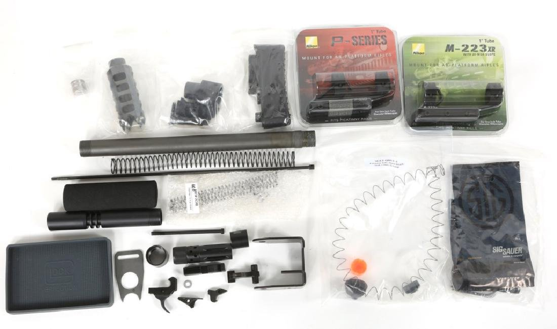 MIXED LOT OF FIREARM PARTS & ACCESSORIES