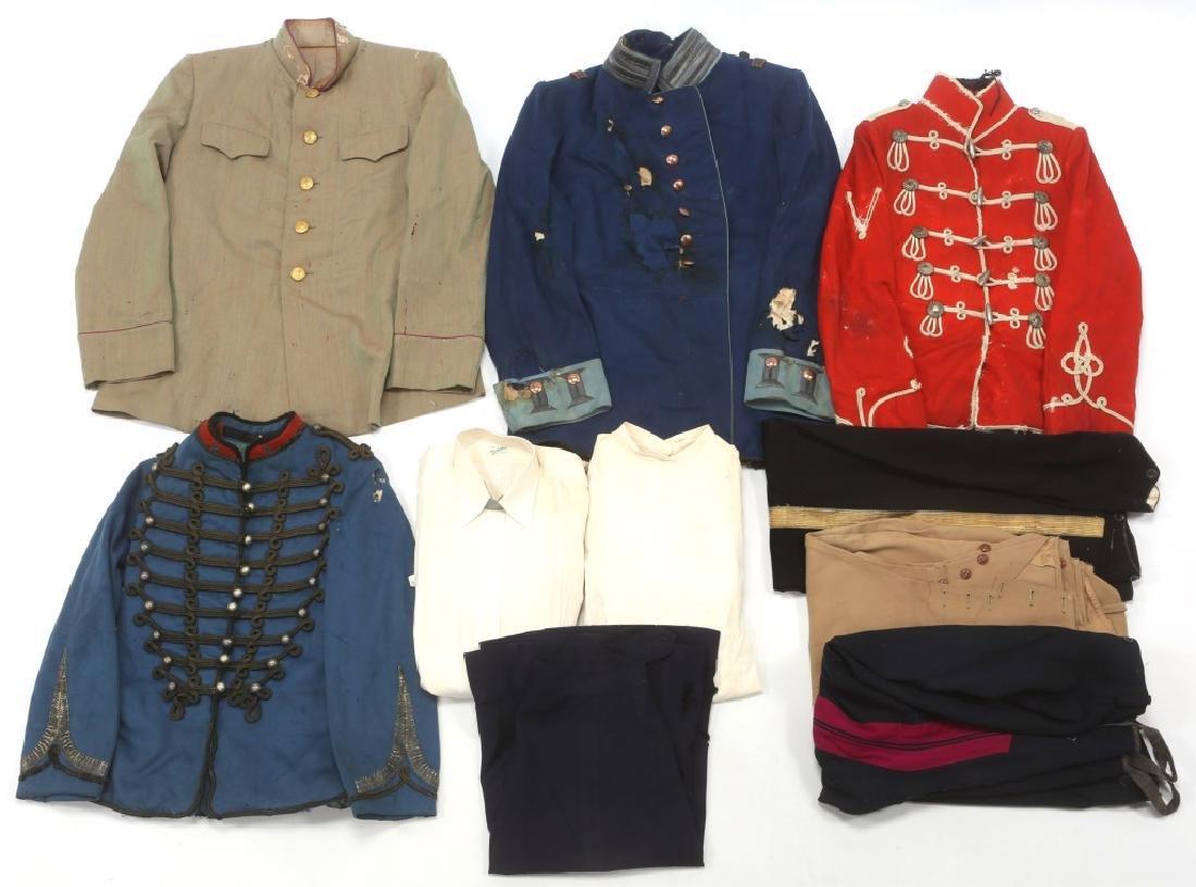 19th CENTURY WORLD MILITARY DRESS UNIFORM LOT