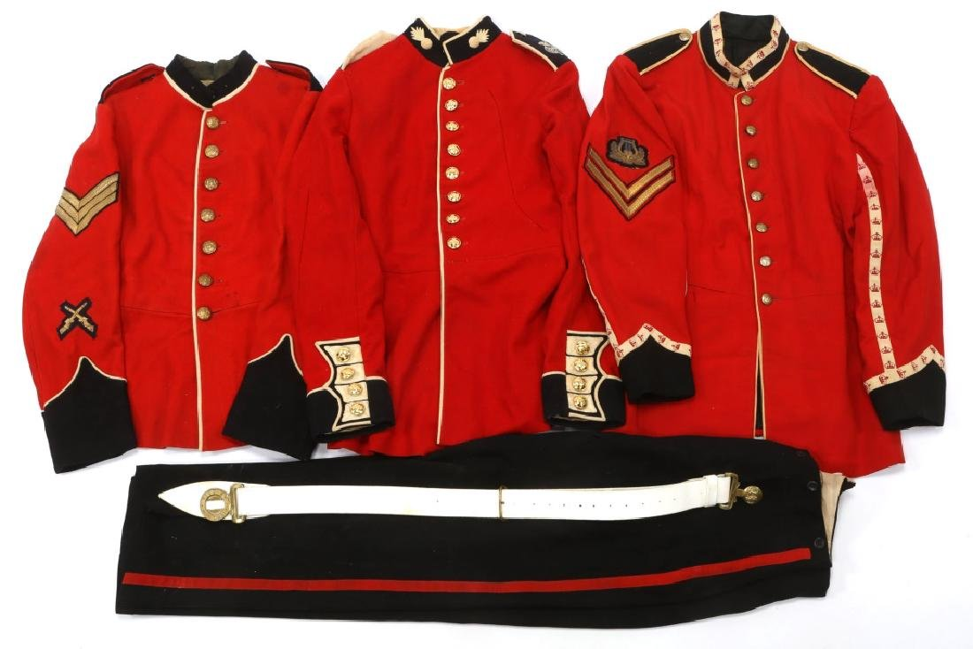 BRITISH ARMY DRESS UNIFORM MIXED LOT
