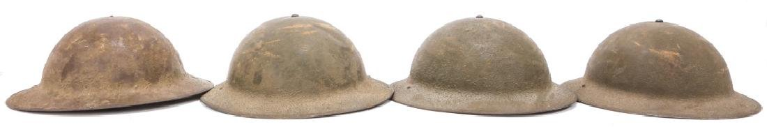 WWI & WWII US ARMY DOUGHBOY HELMET LOT OF 4 - 2