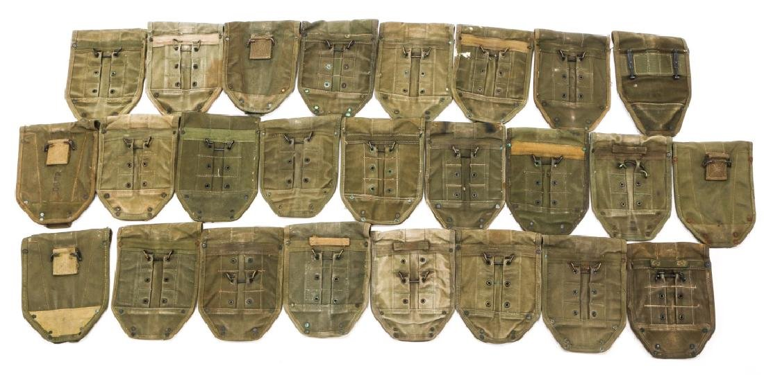 WWII TO VIETNAM E-TOOL CARRYING CASE LOT OF 25 - 4