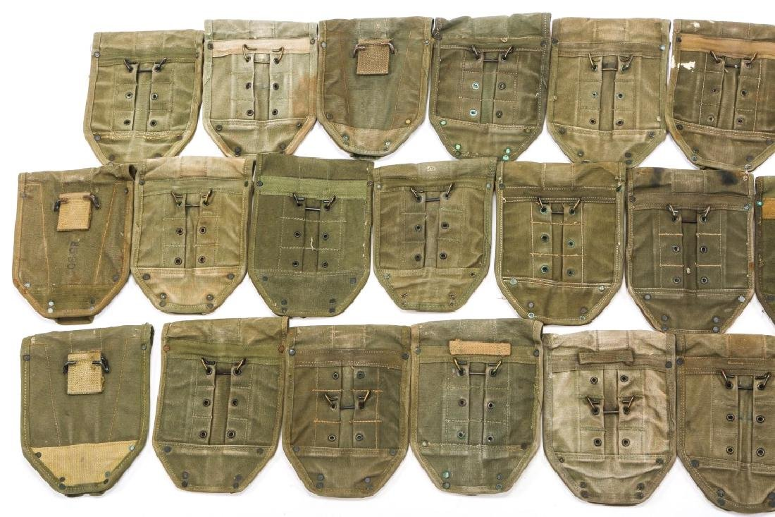 WWII TO VIETNAM E-TOOL CARRYING CASE LOT OF 25 - 5