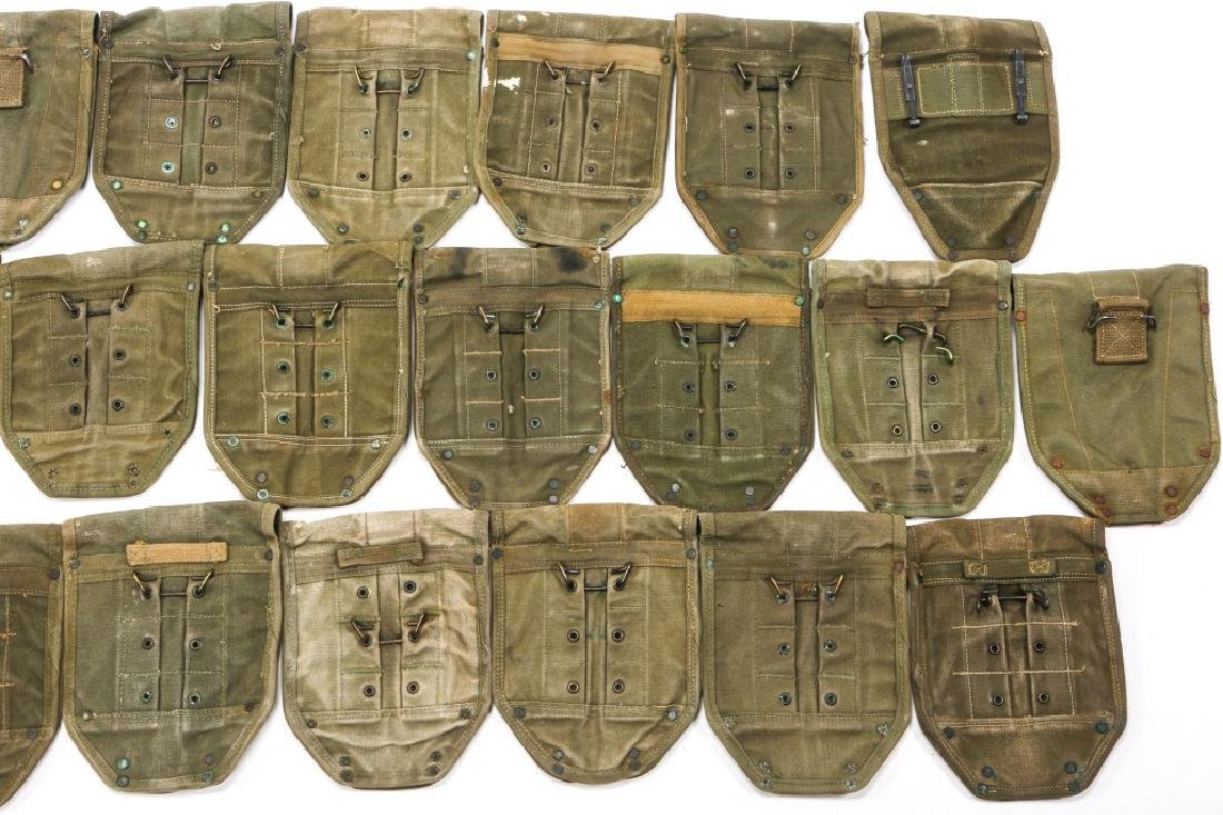 WWII TO VIETNAM E-TOOL CARRYING CASE LOT OF 25 - 6