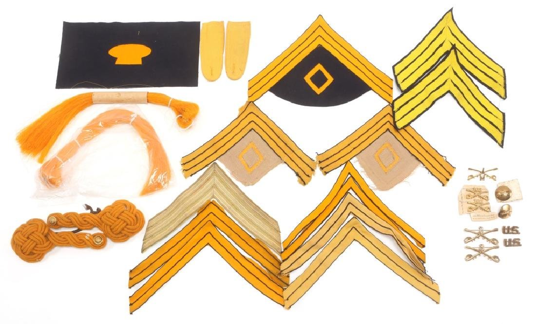 INDIAN WARS US CAVALRY LOT OF CHEVRONS & INSIGNIA