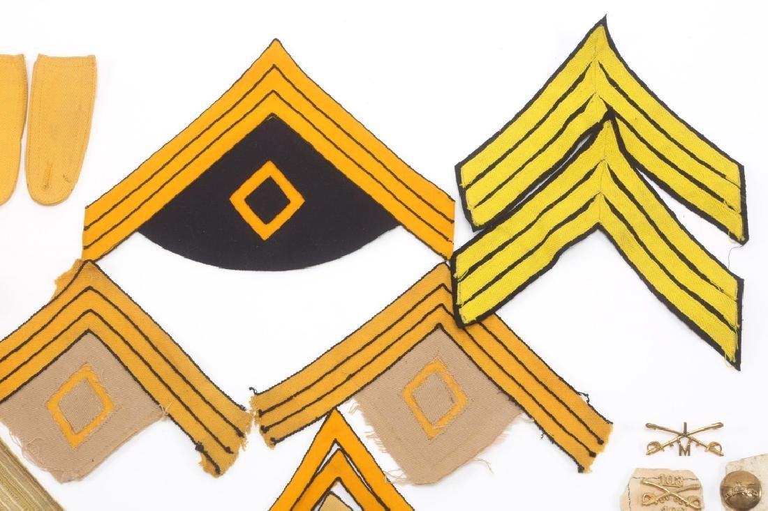 INDIAN WARS US CAVALRY LOT OF CHEVRONS & INSIGNIA - 3