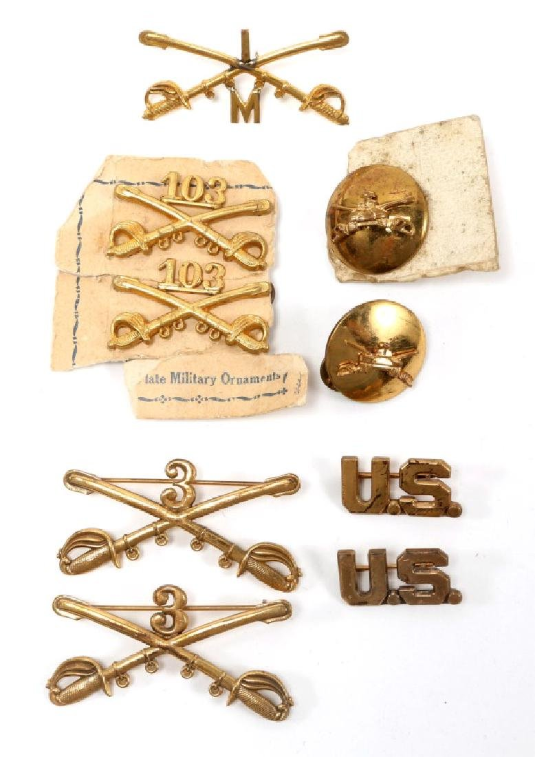 INDIAN WARS US CAVALRY LOT OF CHEVRONS & INSIGNIA - 6