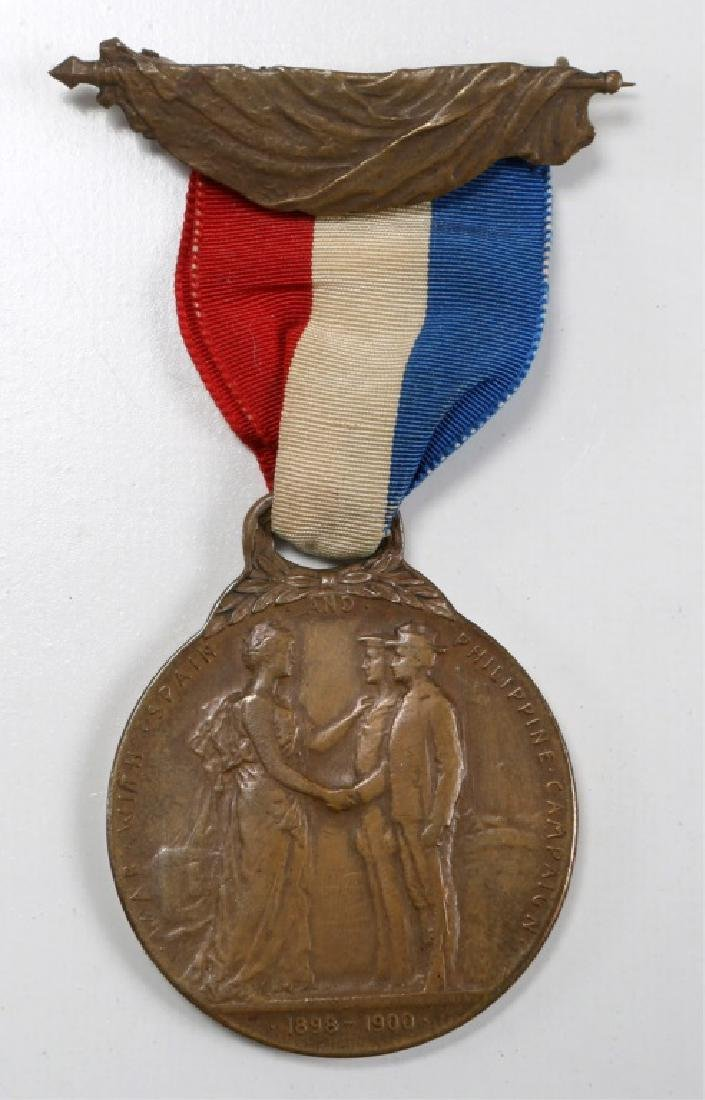 MICHIGAN STATE WAR WITH SPAIN & PHILIPPINE MEDAL