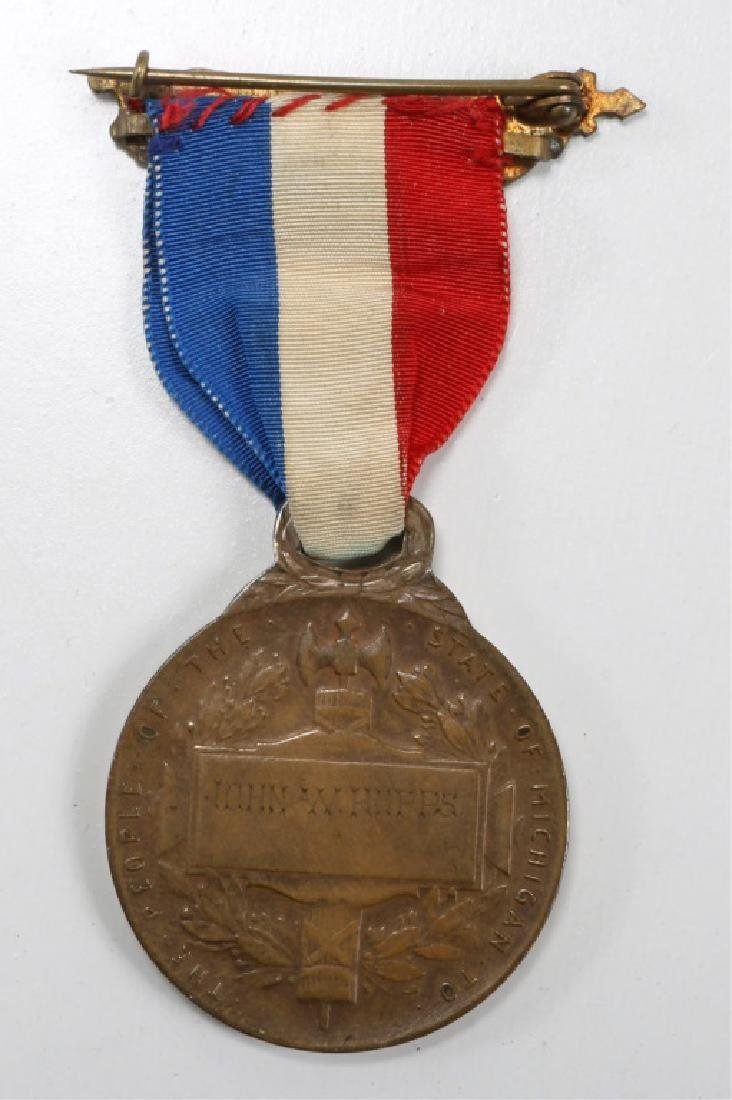MICHIGAN STATE WAR WITH SPAIN & PHILIPPINE MEDAL - 2