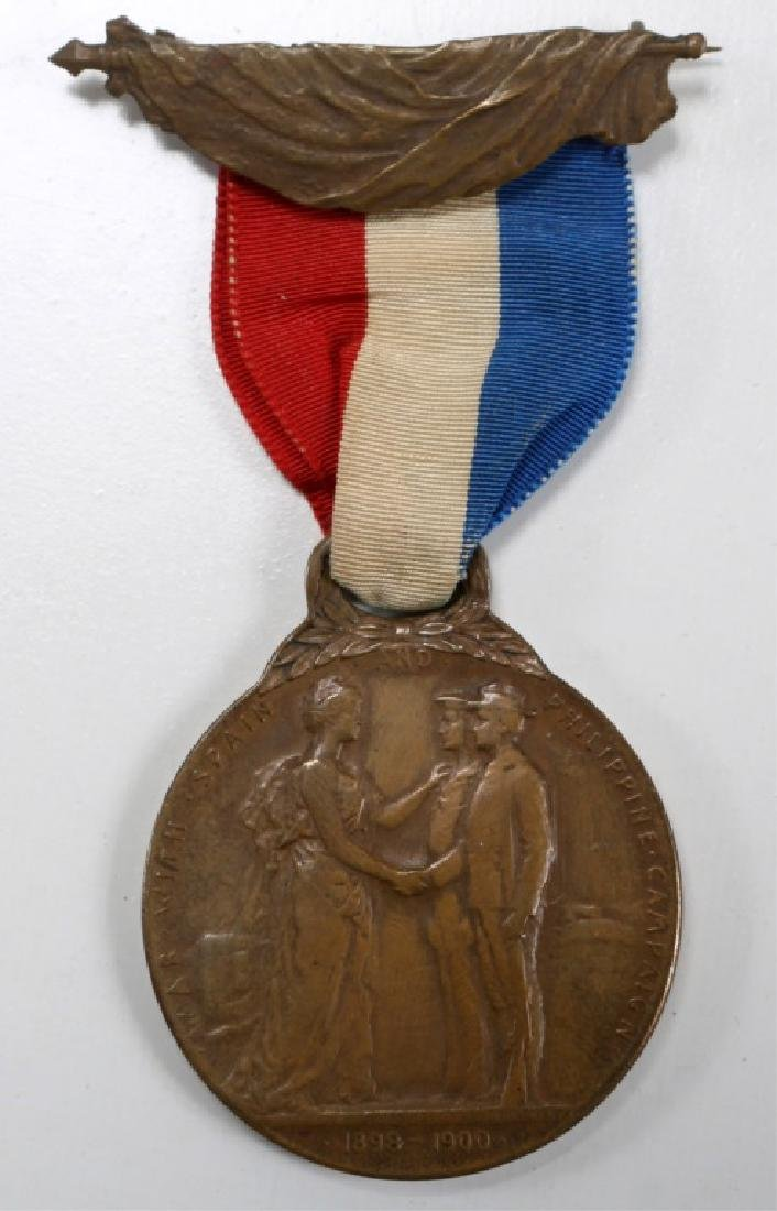 MICHIGAN STATE WAR WITH SPAIN & PHILIPPINE MEDAL - 3