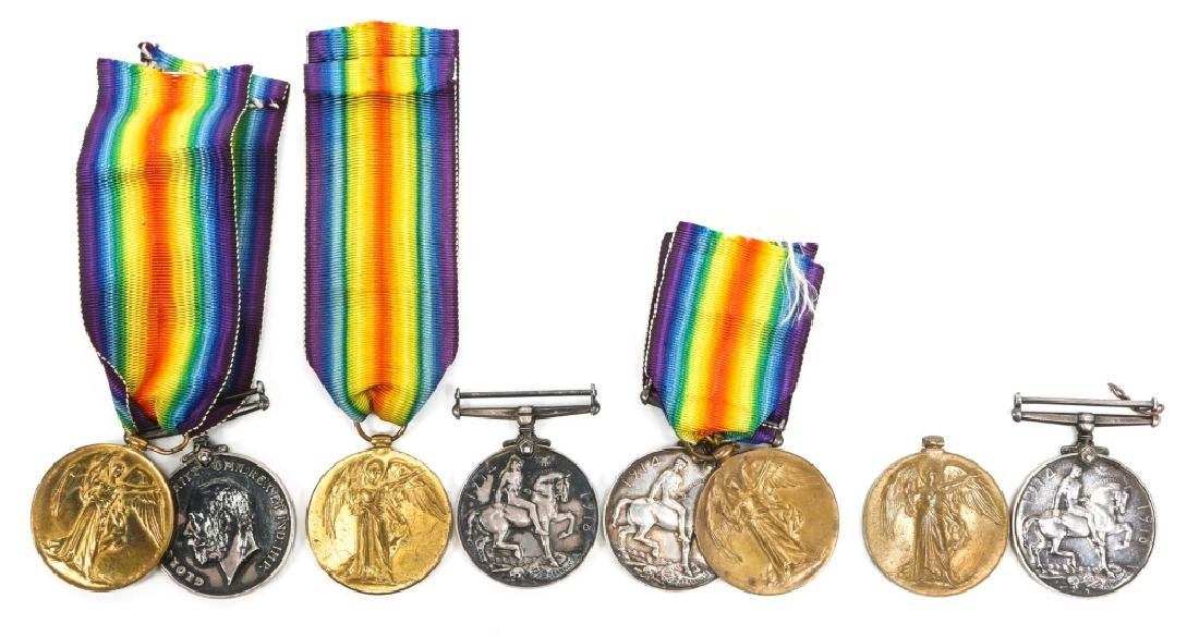 WWI BRITISH NAMED GREAT WAR & VICTORY MEDAL LOT