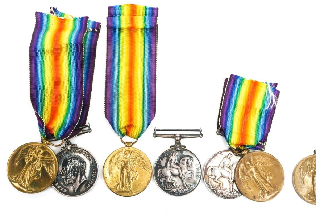 WWI BRITISH NAMED GREAT WAR & VICTORY MEDAL LOT - 2