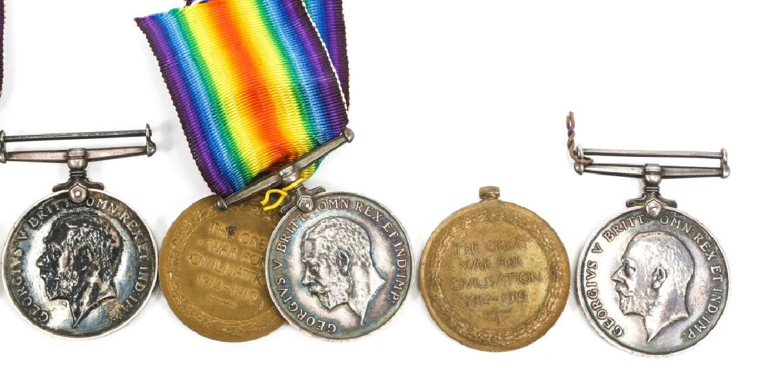 WWI BRITISH NAMED GREAT WAR & VICTORY MEDAL LOT - 6