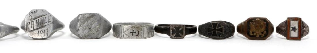 WWI WORLD MILITARY SOLDIER RING LOT OF 12 - 4